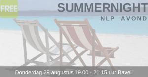 Gratis NLP summernight workshop